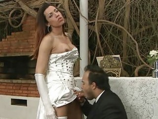 Groom finds out that his wifes tranny and gets fucked