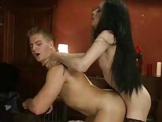 Incredible tranny fucks her lover in hardcore fashion