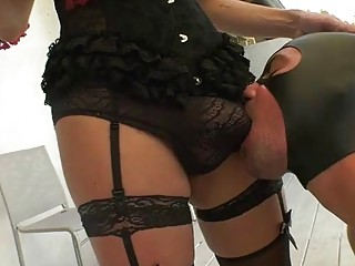 Big cock shemale hardcore with cum on face