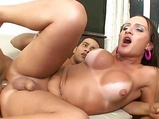 Hot trans babe with big tits has passionate lovemaking session