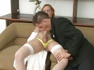 Naughty shemale bride fucks her husband after the romantic wedding