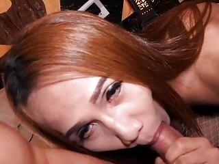 Ladyboy Whore Yuki Ass Toyed And Fucked Bareback
