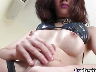 Hot Asian TS Girl Beth A Toyfucks Her Butt